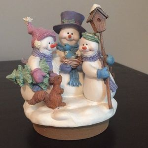 Home Interiors Snowman and Family Figurine